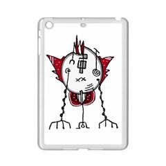 Alien Robot Hand Draw Illustration Apple iPad Mini 2 Case (White) by dflcprints
