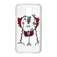 Alien Robot Hand Draw Illustration Samsung Galaxy S5 Case (white) by dflcprints