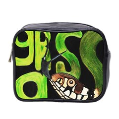GRASS SNAKE Mini Travel Toiletry Bag (Two Sides) by JUNEIPER07