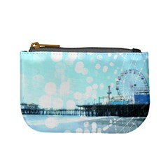 Turquoise Santa Monica Pier Spiderweb Coin Change Purse by stineshop
