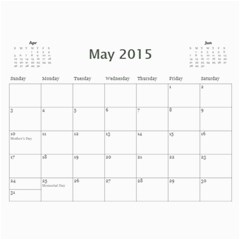 Popa & Hoi s 2015 Work Calendars By Becky   Wall Calendar 11  X 8 5  (12 Months)   Ko3xzl351sql   Www Artscow Com May 2015