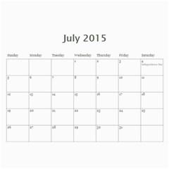Popa & Hoi s 2015 Work Calendars By Becky   Wall Calendar 11  X 8 5  (12 Months)   Ko3xzl351sql   Www Artscow Com Jul 2015