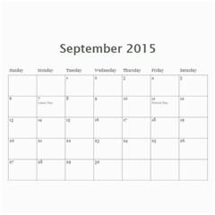 Popa & Hoi s 2015 Work Calendars By Becky   Wall Calendar 11  X 8 5  (12 Months)   Ko3xzl351sql   Www Artscow Com Sep 2015