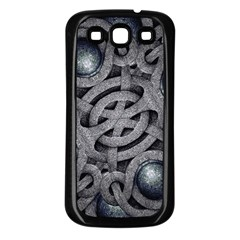 Mystic Arabesque Samsung Galaxy S3 Back Case (black) by dflcprints