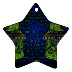 Binary Communication Star Ornament (two Sides) by StuffOrSomething