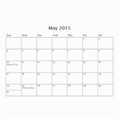 Mad By Roberta   Wall Calendar 8 5  X 6    Orccws39eit1   Www Artscow Com May 2015
