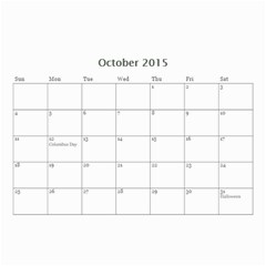 Mad By Roberta   Wall Calendar 8 5  X 6    Orccws39eit1   Www Artscow Com Oct 2015