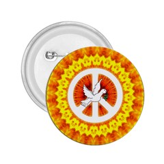 Psychedelic Peace Dove Mandala 2 25  Button by StuffOrSomething