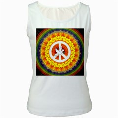 Psychedelic Peace Dove Mandala Women s Tank Top (white) by StuffOrSomething