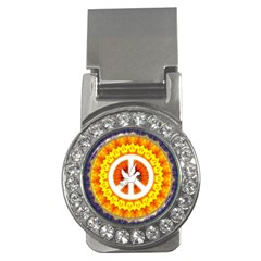 Psychedelic Peace Dove Mandala Money Clip (cz) by StuffOrSomething
