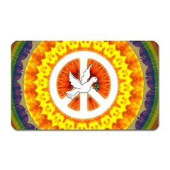 Psychedelic Peace Dove Mandala Magnet (rectangular) by StuffOrSomething