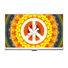 Psychedelic Peace Dove Mandala Business Card Holder by StuffOrSomething