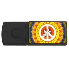 Psychedelic Peace Dove Mandala 4gb Usb Flash Drive (rectangle) by StuffOrSomething