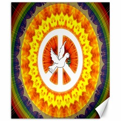 Psychedelic Peace Dove Mandala Canvas 20  X 24  (unframed) by StuffOrSomething