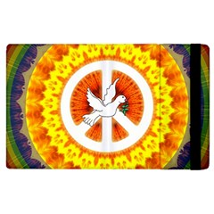 Psychedelic Peace Dove Mandala Apple Ipad 3/4 Flip Case by StuffOrSomething