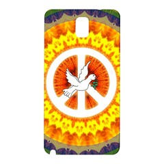 Psychedelic Peace Dove Mandala Samsung Galaxy Note 3 N9005 Hardshell Back Case by StuffOrSomething