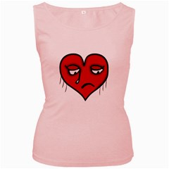 Sad Heart Women s Tank Top (pink) by dflcprints