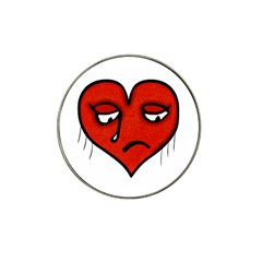 Sad Heart Golf Ball Marker 4 Pack (for Hat Clip) by dflcprints