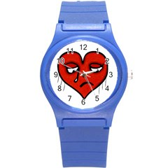 Sad Heart Plastic Sport Watch (small) by dflcprints