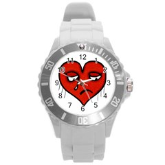 Sad Heart Plastic Sport Watch (large) by dflcprints
