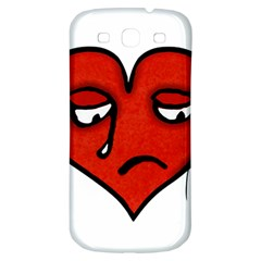 Sad Heart Samsung Galaxy S3 S Iii Classic Hardshell Back Case by dflcprints