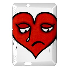 Sad Heart Kindle Fire Hdx Hardshell Case by dflcprints