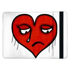 Sad Heart Samsung Galaxy Tab Pro 12.2  Flip Case by dflcprints