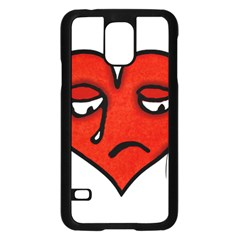 Sad Heart Samsung Galaxy S5 Case (black) by dflcprints
