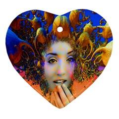 Organic Medusa Heart Ornament by icarusismartdesigns