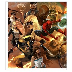 Marvel Dice Bag A By Gordon Watson   Drawstring Pouch (medium)   Bg20uo6h8irt   Www Artscow Com Front