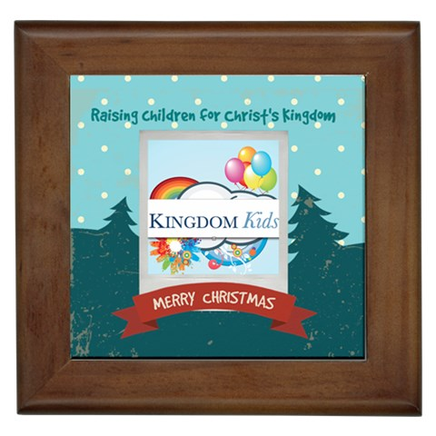 Kingdom Kids Framed Tile 1 By Ting Guevarra   Framed Tile   Krs7rmk371f7   Www Artscow Com Front