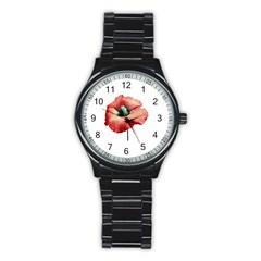 Your Flower Perfume Sport Metal Watch (Black) by dflcprints