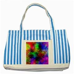 Plasma 21 Blue Striped Tote Bag by BestCustomGiftsForYou