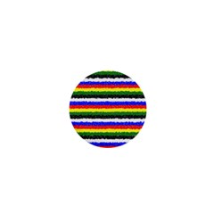 Horizontal Basic Colors Curly Stripes 1  Mini Button Magnet by BestCustomGiftsForYou