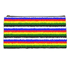 Horizontal Basic Colors Curly Stripes Pencil Case by BestCustomGiftsForYou