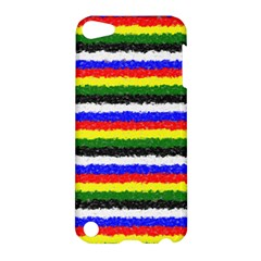 Horizontal Basic Colors Curly Stripes Apple Ipod Touch 5 Hardshell Case by BestCustomGiftsForYou