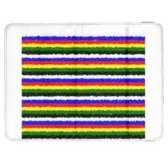 Horizontal Basic Colors Curly Stripes Samsung Galaxy Tab 7  P1000 Flip Case by BestCustomGiftsForYou