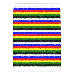 Horizontal Basic Colors Curly Stripes Removable Flap Cover (small) by BestCustomGiftsForYou