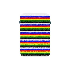 Horizontal Basic Colors Curly Stripes Apple Ipad Mini Protective Sleeve by BestCustomGiftsForYou