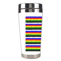 Horizontal Basic Colors Curly Stripes Stainless Steel Travel Tumbler by BestCustomGiftsForYou