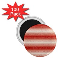 Horizontal Red Curly Stripes 1 75  Button Magnet (100 Pack)