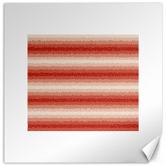 Horizontal Red Curly Stripes Canvas 20  X 20  (unframed) by BestCustomGiftsForYou