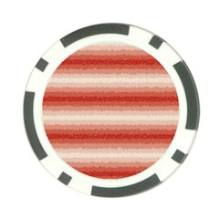 Horizontal Red Curly Stripes Poker Chip by BestCustomGiftsForYou