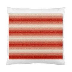 Horizontal Red Curly Stripes Cushion Case (two Sided)  by BestCustomGiftsForYou