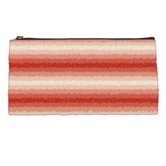 Horizontal Red Curly Stripes Pencil Case by BestCustomGiftsForYou