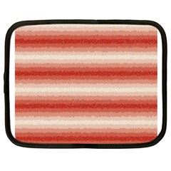 Horizontal Red Curly Stripes Netbook Sleeve (xxl) by BestCustomGiftsForYou