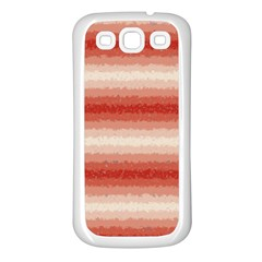 Horizontal Red Curly Stripes Samsung Galaxy S3 Back Case (white) by BestCustomGiftsForYou