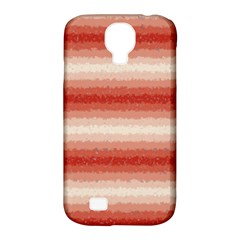 Horizontal Red Curly Stripes Samsung Galaxy S4 Classic Hardshell Case (pc+silicone) by BestCustomGiftsForYou