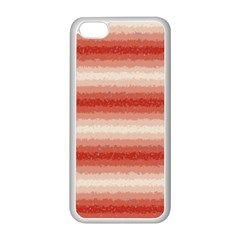 Horizontal Red Curly Stripes Apple Iphone 5c Seamless Case (white) by BestCustomGiftsForYou
