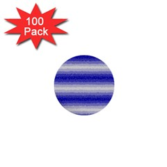 Horizontal Dark Blue Curly Stripes 1  Mini Button (100 Pack) by BestCustomGiftsForYou